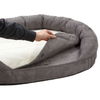 Disposable Cover 3in1 Memory Foam Reversible Orthopedic Sofa Warm Luxury Dog Bed
