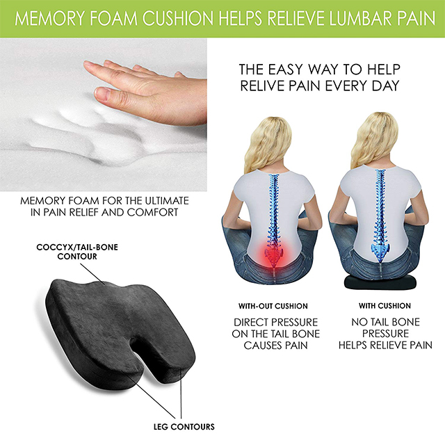 Healthy China Orthopedic Memory Foam Cushion Pad