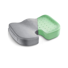 New Design Comfortable Velvet Cover Green Memory Foam Car Seat Cushion