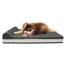 Solid Color Custom Cat Dog Non-slip Plush Luxury Sofa Breathable Waterproof Soft Pet Bed
