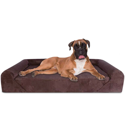 Luxury Bolster High Quality Wholesale Factory Hot Sale Memory Foam Pet Dog Bed