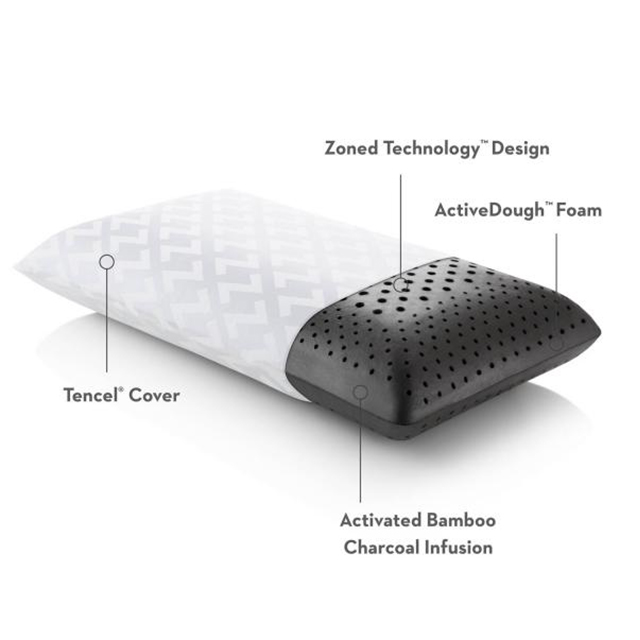 Healthy Foam Zoned Memory Foam Gel Sleeping Pillow